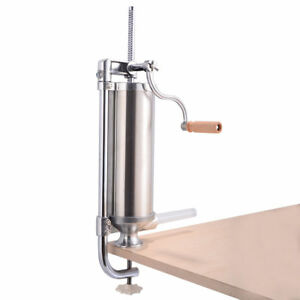 3l Stainless Steel Vertical Sausage Stuffer Maker Meat Filler Commercial New
