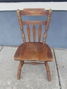 One Cushman Colonial Creations Model 7031 Dining Side Chairs Comb Back