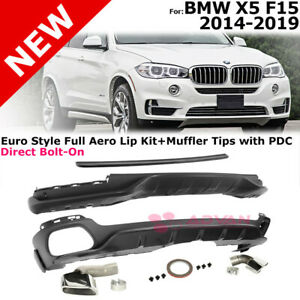 For Bmw X5 2014 2019 Front Rear Splitter Roof Spoiler Valance Lip Kit Add on