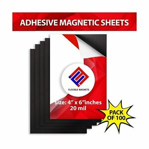 Flexible Adhesive Magnetic Sheets Peel And Stick 4x6 Inches Perfect For Pho