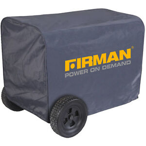 Firman Generator Cover Large Black Nylon Water resistant 5000 8000 Watt