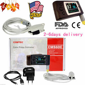 Fda Us Portable Pulse Oximeter Oled Spo2 Pr Monitor Alarm software contec Cms60c