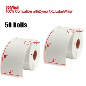 50 Rolls 4x6 Compatible Dymo 4xl Thermal Shipping Address Postage Labels 1744907
