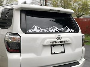 Mountains Decal For Back Window Fits Toyota 4runner Jeep Wrangler And More Flag