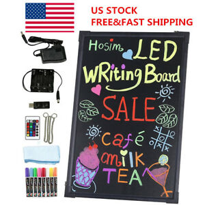 Hosim 24 x16 led Glow Writing Board Flashing Illuminated Fluorescent Neon Sign