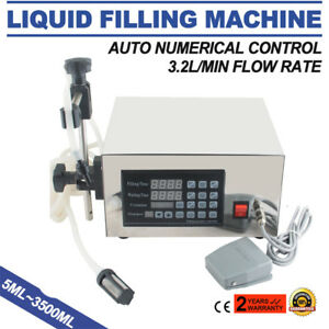 Digital Liquid Manual Filling Machine Filler 5 3500ml Cream Shampoo Water Wine