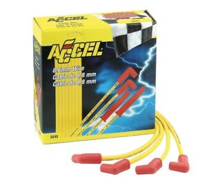 Accel Spark Plug Wire Set 8 8mm 8848 Sbc Hei Over Valve Cover Most Headers