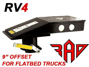 Popup Rv4 Kingpin To Gooseneck 5th Fifth Wheel Rv Hitch Adapter Flatbed Only