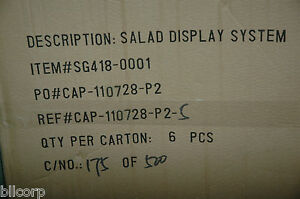 Retail Salad Display System 20 X 5 1 4 Case Of 6 Lot Of 10 Cases 60 Units