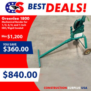Greenlee 1800 Mechanical Bender For 1 2 3 4 And 1 inch Imc rigid Conduit