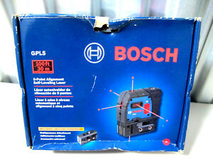 Bosch Gpl5 5 point Self leveling Alignment Laser Used