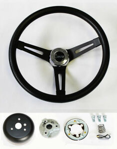 1967 Camaro Black Grip On Black Steering Wheel Camaro Script Center Cap 13 1 2