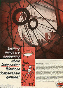 1959 Print Ad of US Independent Telephone Association Dam Construction