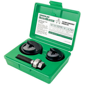 Greenlee 7237bb 1 1 2 To 2 inch Durable Slug buster Knockout Punch And Die Set