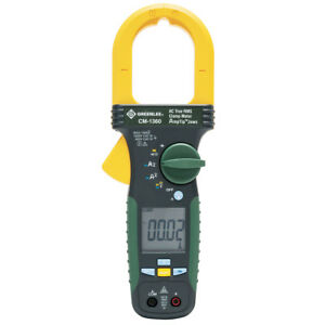 Greenlee Cm 1360 1 000 amp Durable General Purpose Ac Clamp True Rms Meter