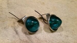 2 Vintage Do ray 1130 Lights Green Beehive Ls301 Truck Motorcycle Trailer Mark