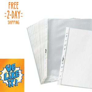 1000 Office Page Sheet Protectors 11 Hole Non Glare Matte 8 1 2 X 11 Acid Free