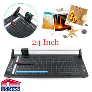Usa Stock 24 Inch High Precision Rotary Paper Trimmer Sharp Photo Paper Cutter