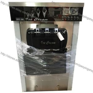 22l h Stainless Steel 3 Flavor Table Top Soft Ice Cream Machine Maker