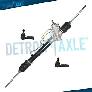 Power Steering Rack And Pinion Assembly 2 New Outer Tie Rod For Corolla Prizm