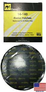 Camel 14 140 Large Round Reinforced Radial Tire Patches 4 1 8 10 Per Box Usa