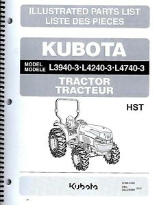 Kubota L3940 3 L4240 3 L4740 3 Tractor cab Illustrated Parts Manual 97898 24681