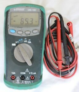 Greenlee Dm 100 Dmm Professional Plant Digital Multi Meter Dvom