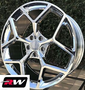 20 Inch Chevy Camaro Z28 Oe Factory Replica Wheels Chrome Staggered Rims 5x120