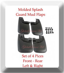 Molded Splash Guards Mud Flaps Front Rear Fits Toyota Tacoma 2005 2016