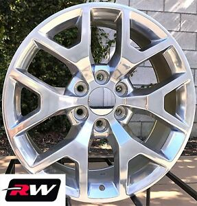 20 Inch Gmc Yukon Wheels 6x5 50 Gmc Sierra 2014 2015 Polished 20x9 Rims 5656