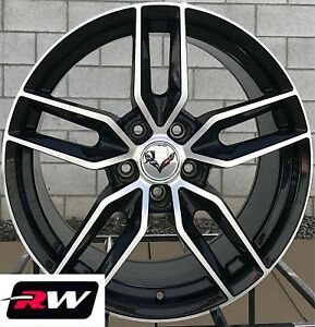 Chevy Camaro Wheels C7 Oe Replica 17 18 Inch Black Machined Rims Fit 1993 2002