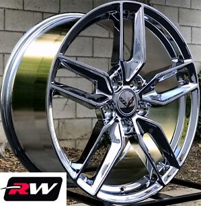 Chevy Camaro Wheels C7 Stingray Style Chrome Rims 18 19 Inch Fit 1993 2002