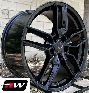 Chevy Camaro Wheels Gloss Black Stingray 17 18 Inch Rims Fit Camaro 1993 2002