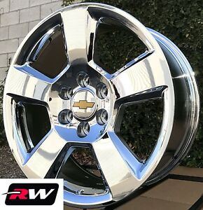 Chevy Truck Oe Factory Replica Wheels 5652 Gm 20937764 Chrome 20 Inch 20x9 Rims