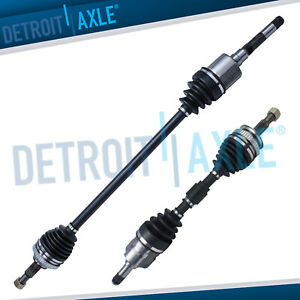Complete Front Driver And Passenger Side Cv Axle Shaft Fwd Abs Usa Made