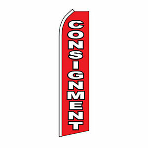 Consignment Business Sign Swooper Flag 16 Weatherproof Feather Banner