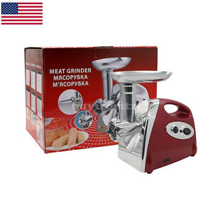 Electric Meat Grinder Mincer Chopper Sausage Stuffer Stainless Steel 800w Max Us