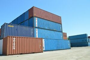 40 foot ft High Cube Steel Cargo Intermodal Shipping Container Cleveland Ohio