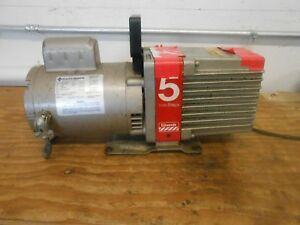 Edwards E2m5 High Vacuum Pump With Franklin Electric 1102180403 1 2 Hp