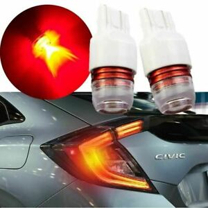 Red Flashing Strobe Light Led Bulbs For 2015 2018 Honda Civic Brake Tail Light