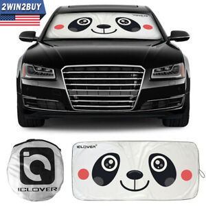 Catoon Eyes Foldable Car Windshield Sun Shade Cover Suv Front Window Visor Block