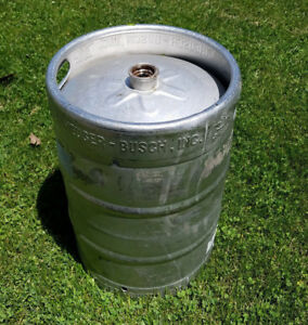 Anheuser Busch Empty Beer Keg Stainless Steel 15 5 Gallon Half Barrel full Keg