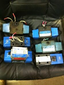 Lot Of 6 Large Vickers Pilot Valve 110 Volt 24 Volt 2 Way Solenoid