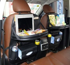 Car Back Seat Table Folding Organizer Holder Food Desk Laptop Cup Stand Auto Box