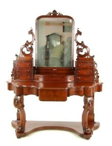 Antique Walnut Dresser Carved Vanity Duchess Dressing Table B1018 Reduced
