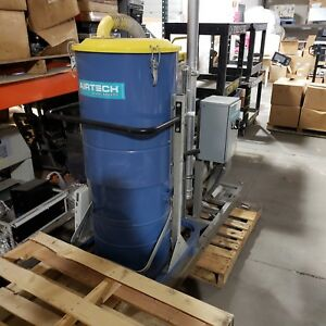 Airtech Sf75 1800 Dust Chip Removal Cyclone Air Cleanup Central Vac System