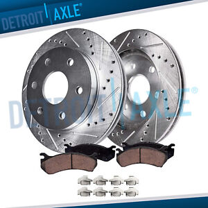 Front Drilled Brake Rotors Ceramic Pads Chevy Silverado 1500 Gmc Sierra 1500