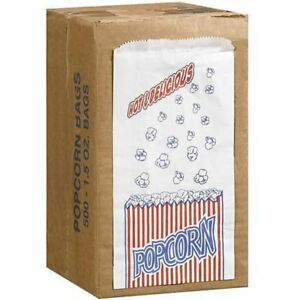 Great Northern Storage Organization Popcorn Company 1 1 2 ounce Duro Bag Bags