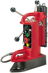 Milwaukee Electro magnetic Fixed Position Drill Press Base With 9 In Drill