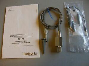 Genuine Tektronix P6122 10x 100 Mhz Oscilloscope Probe tested Accessories